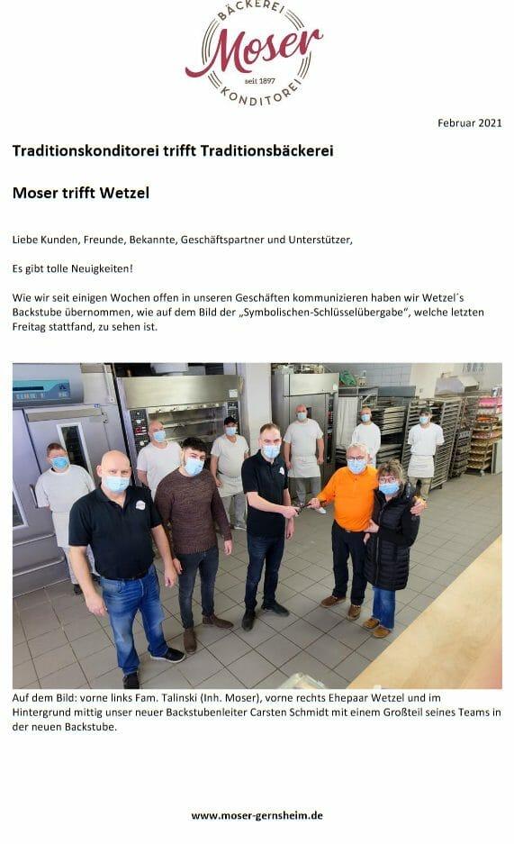 Traditionskonditorei trifft Traditionsbäckerei